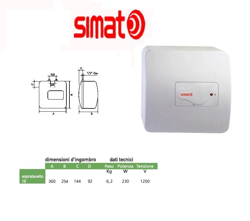 Scaldabagno elettrico simat by ariston 10 litri rapido - Scaldabagno elettrico 10 litri ...