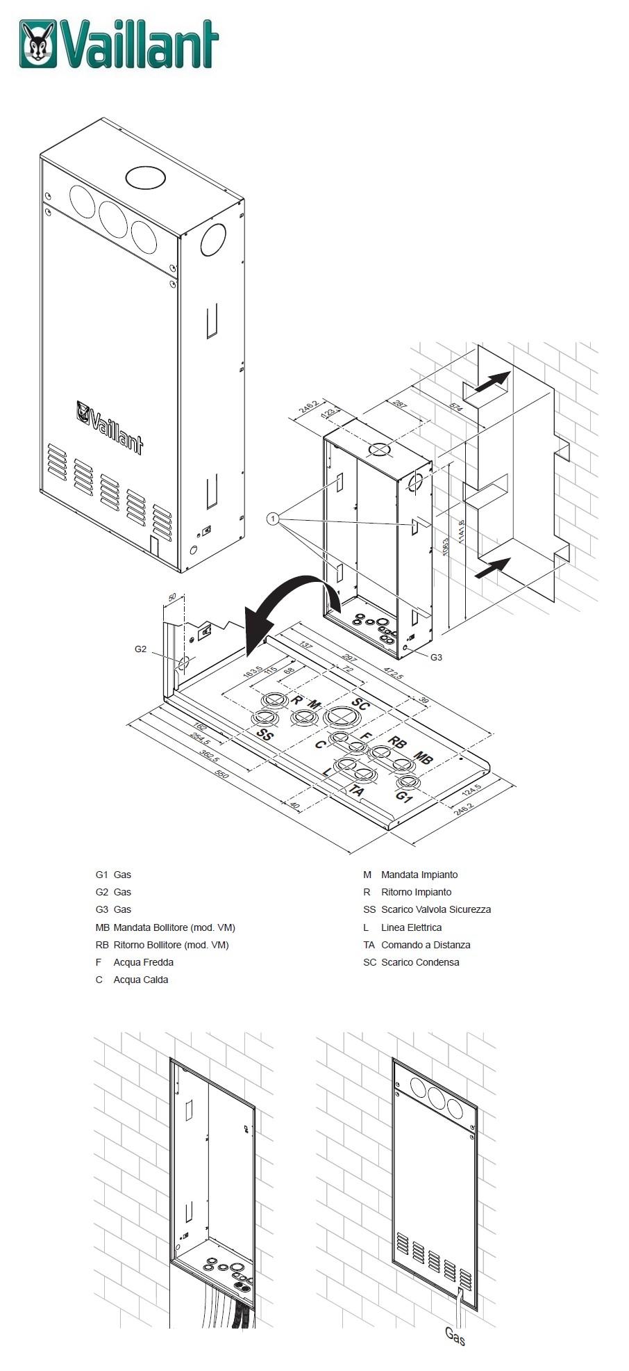Unita Da Incasso Vaillant Box Caldaia Per Caldaia Ecoinwall