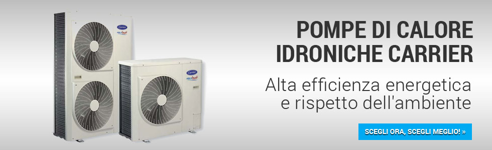 Pompe di calore carrier