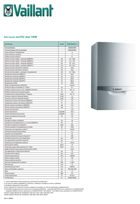 Caldaia Vaillant Ecotec Plus A Condensazione Vmw 306 5 5 Camera