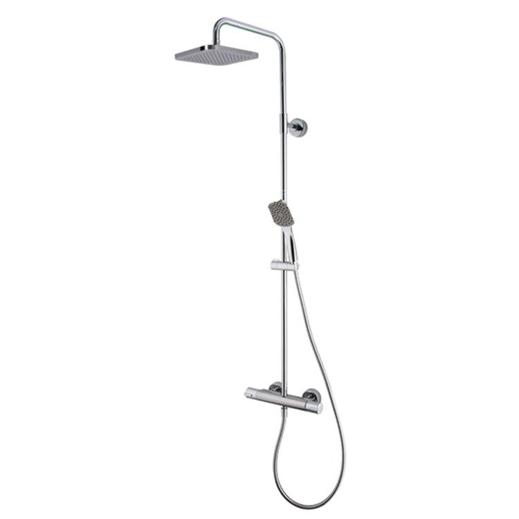 Colonna doccia Fima Carlo Frattini Serie 22 esterna miscelatore termostatico deviatore a due vie soffione quadro e doccetta