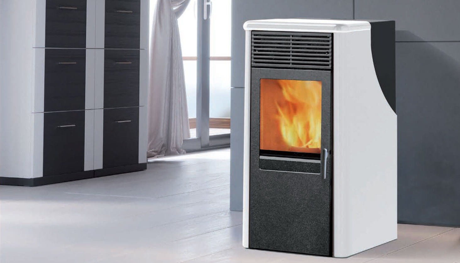 Stufe A Pellet Installazione Esterna stufe a pellet per termosifoni | climamarket