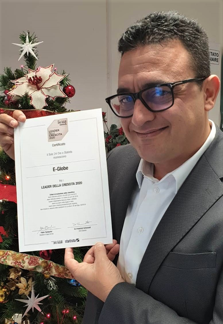 E-GLOBE - Climamarket LEADER nella CRESCITA 2020